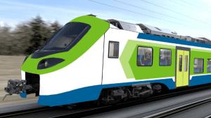 Alstom's 'Coradia Stream', a hydrogen train operating in Lombardo, Italy