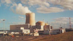 Civaux nuclear power plant by the Vienne River, France,