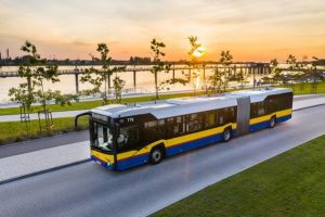 Hydrogen bus produced by Solaris for public transportation in Cologne, Germany