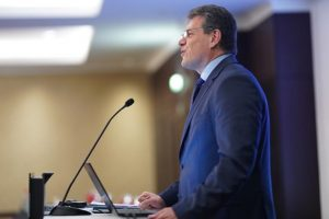 Maroš Šefčovič addressing the recent meeting of the EBA