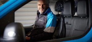 Steve Winter, BG's Head of Fleet in a new EV