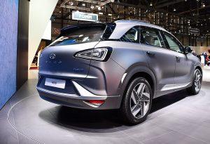 Hyundai's Hydrogen-fuelled car, the NEXO