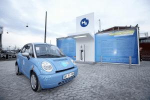 Prototype for the Hydrogen refuelling station at Copenhagen, Credit: Everfuel website