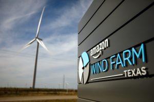 View of Amazon's wind farm in Texas, USA, Credit: Amazon website