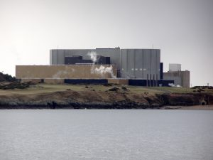 The now decommissioned Wylfa nuclear power station from Llanbadrig Point which is the proposed site for Shearwater's hybrid power project, Credit: David Dixon, CC-BY SA 2.0, Wikimedia Commons