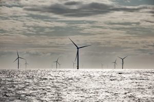 A view of Ørsted's Hornsea One offshore wind farm off the coast of Greater Manchester, UK. Credit: Ørsted UK website
