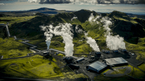 The Hellisheidi power plant in Iceland which is near the CarbFix pilot injection site, Credit: Carbfix Iceland ohf. website