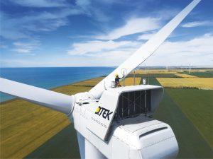 View of a Vestas turbine on an onshore wind farm constructed and owned by DTEK Renewables in Ukraine. Credit: DTEK Renewables website