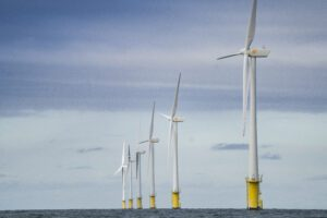 A glimpse of Shell's Noordzee offshore wind farm in Netherlands. Credit: Stuart Conway for Shell