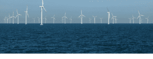 A view of turbines on Danish waters. Credit: COWI website