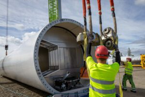 An OX2 wind farm under construction. Credit: OX2 website