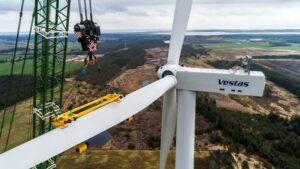 A view of Vestas gigantic 15MW offshore wind turbine. Credit: Vestas website
