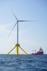 A view of Tetraspar, RWE's latest floating offshore wind project. Credit: RWE website