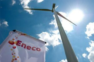 A turbine manufactured by Eneco, A Dutch renewable energy company bought by Mitsubishi. Credit: Mitsubishi Corporation website